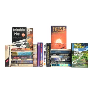 Sci-Fi Dustjacket Book MIX - Set of 25