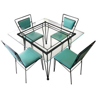 Mid-Century Iron Dining Set