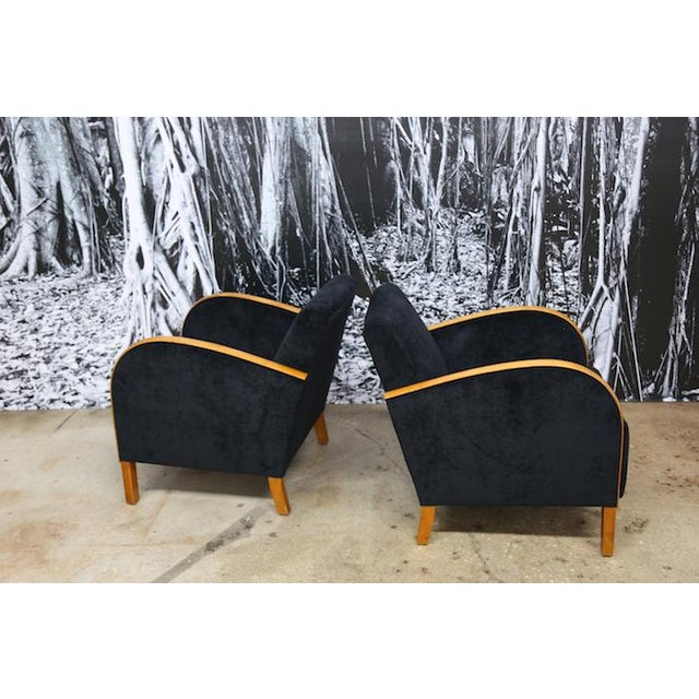Image of Scandinavian Art Deco Club Chairs- A Pair