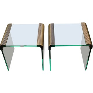 Pace Waterfall Side Tables - A Pair