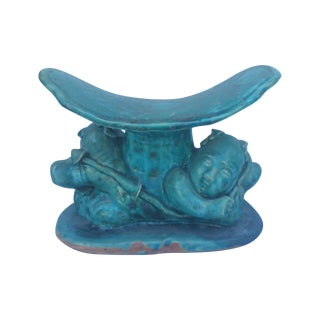 Chinese Turquoise Baby Opium Pillow
