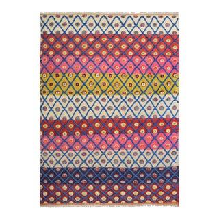 "Moroccan Arya Amado Beige & Red Wool Rug - 8'2"" x 10'"