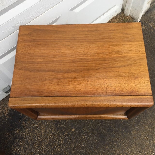 Mid-Century Diamond Front Nightstands - A Pair - Image 6 of 11