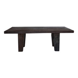 Rustic Modern Dining Table with Thick Top