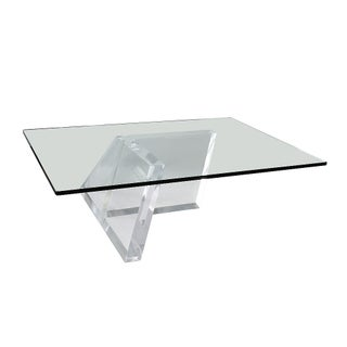 Lucite Paralleograms Coffee Table