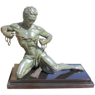 Monumental French Art Deco Sculpture by Jean De Roncourt Circa 1940s