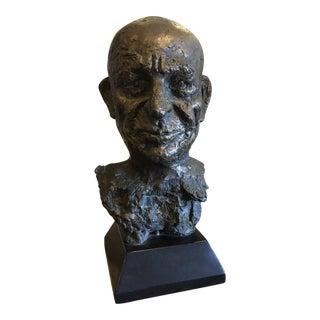 Bronze Male Bust Sculpture