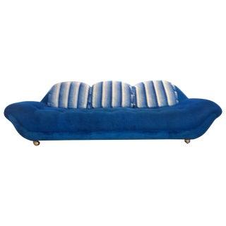 1970s Electric Blue Sofa