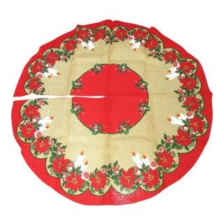 Vintage Burlap Christmas Tree Skirt
