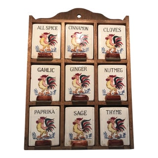 Mid-Century Fred Roberts Co Rooster Spice Rack
