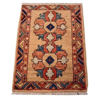 Small Handmade Oriental Rug - 1′5″ × 2′