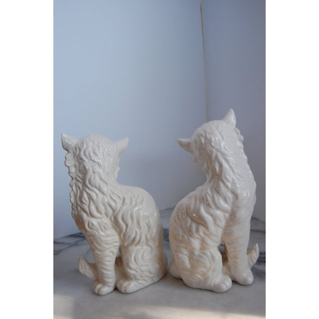 Vintage White Porcelain Cats - A Pair - Image 5 of 8