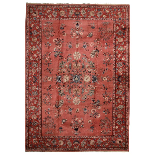 Rugsindallas Vintage Hand Knotted Wool Turkish Sparta Rug - 10′5″ × 14′8″ - Image 1 of 2