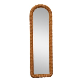Tall Wicker Wall Mirror