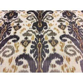 Lee Jofa Pardah Ikat Velvet Epingle Graphite Fabric