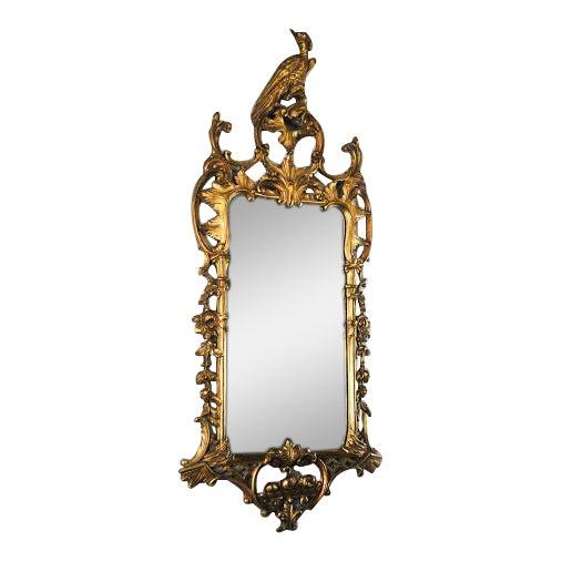 Antique Rococo Phoenix Crested Mirror - Image 1 of 11