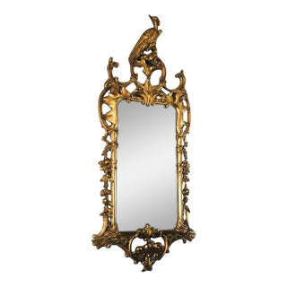 Antique True Victoria Gilt Gesso Phoenix Crested Mirror