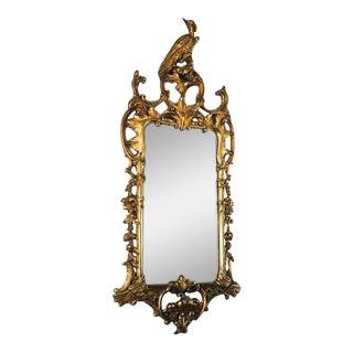 Antique Rococo Phoenix Crested Mirror