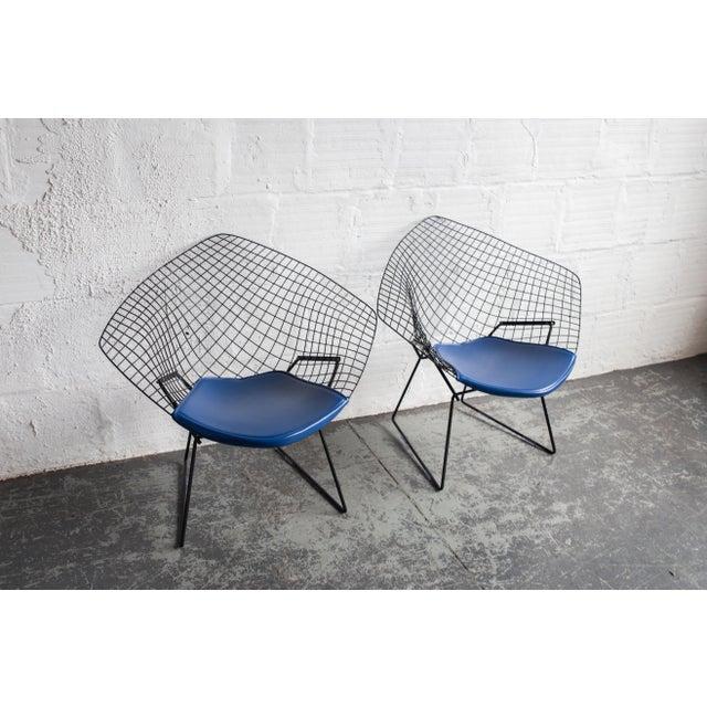 Knoll Bertoia Black Diamond Chairs- Pair - Image 4 of 7