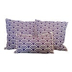 Image of Navy & White Art Deco Arch Pillows - Set of 3