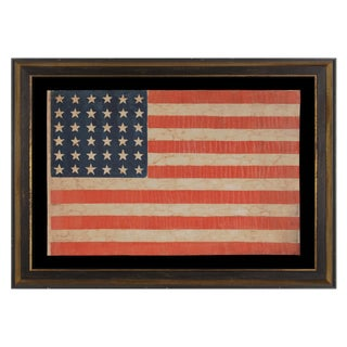 36 Star Antiques American Parade Flag Of The Civil War Ear