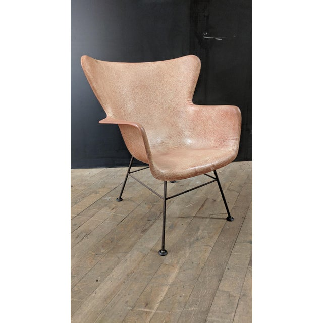 Lawrence Peabody for Selig Mid-Century Wingback Fiberglass Chair - Image 11 of 11