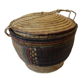 Mexican Lidded Market Basket