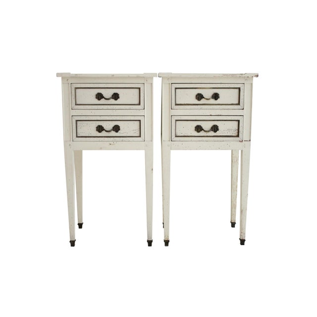 G.E.K.A. Distressed Nightstands- A Pair - Image 1 of 5
