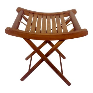 Mid-Century Folding Camp Stool