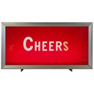 "Vintage ""Cheers"" Bar Topper Light Sign"