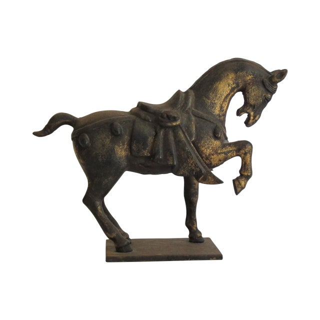 Chinese Ceremonial Metal Horse - Image 1 of 6