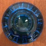 Image of Vintage Blue Art Glass Dish