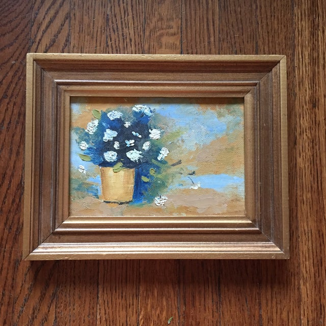 Image of Floral Oil Painting in Gold Frame