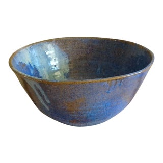 Studio Pottery Large Blue Bowl