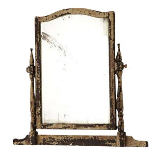 19th Century Pivoting White Painted Mirror