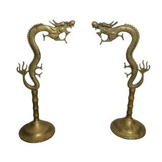 Antique Brass Incense Burner Dragons