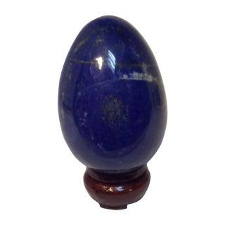 Chinoiserie Lapis Lazuli Large Egg