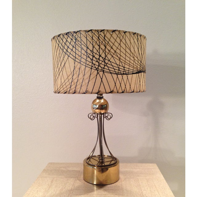 Atomic Era Brass Table Lamp - Image 2 of 6
