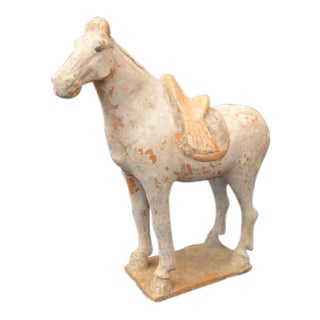 Tang Dynasty Painted Pottery Model of a Horse