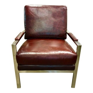 Mid-Century Leather Lounge Chair Pair Available