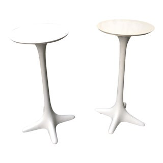 Mid-Century Drinks Tables With Propeller Base - A Pair