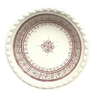 Small Moroccan Ceramic Coupe Plate - Cupcake Holder