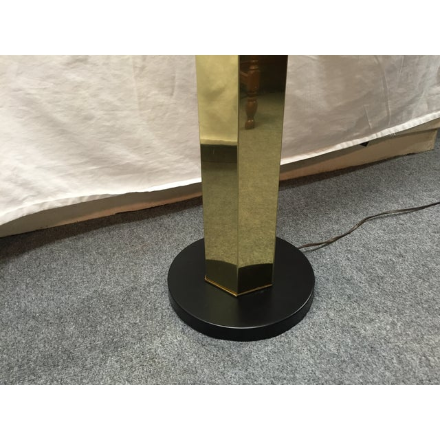 Hexagonal Brass Column Floor Lamp - Image 6 of 9