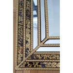 Image of Mid-Century Faux Tortoise Gilt Mirror