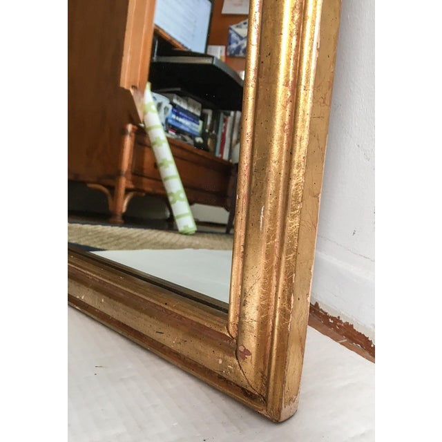 Vintage Italian Gilded Wood & Iron Mirror - Image 4 of 11