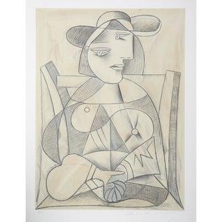 """Pablo Picasso """"Femme Aux Mains Jointes"""" Lithograph"""