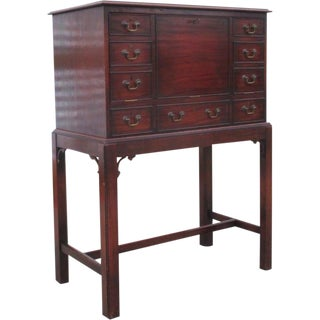 English Antique Drop Front Writing Desk