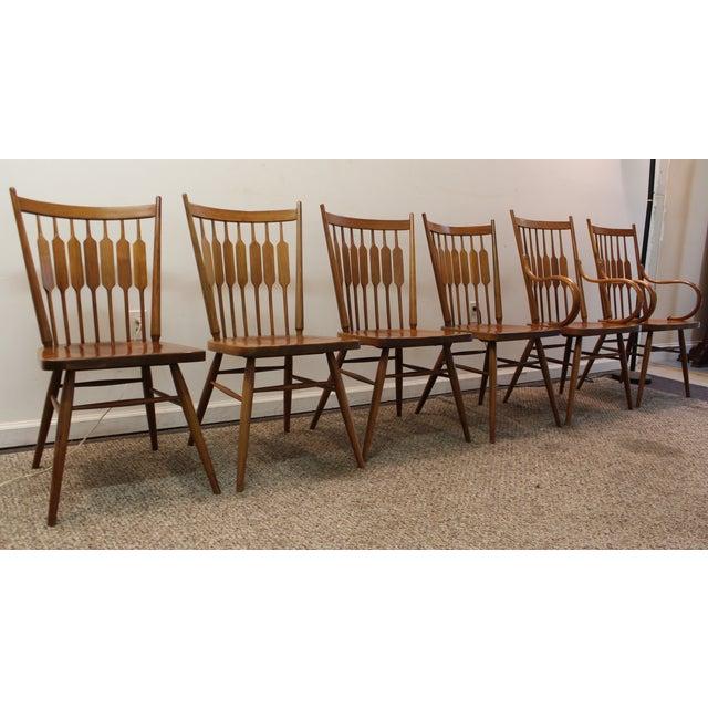 Kipp Stewart Paddle Back Chairs - Set of 6 - Image 2 of 11