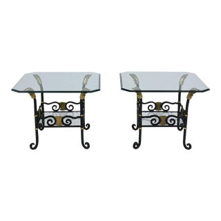 Pair of Regency Forged Iron Side Tables