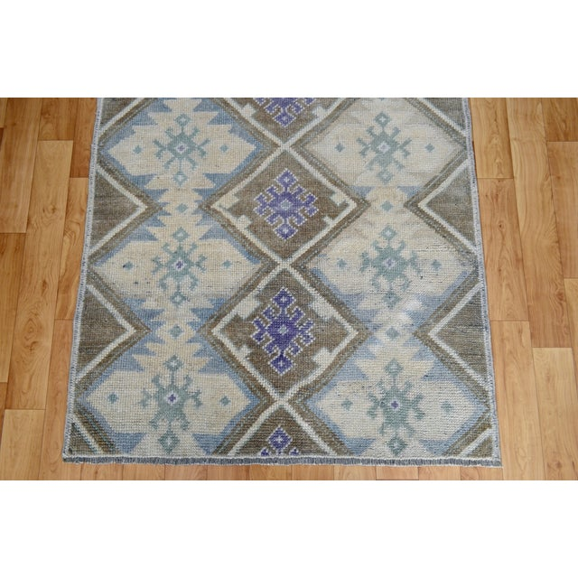 Hand-Knotted Antiqued Turkish Rug - 3′1″ × 5′7″ - Image 8 of 9